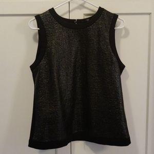 Tibi New York faux leather sleeveless top